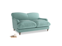 Small Pudding Sofa in Greeny Blue Clever Deep Velvet