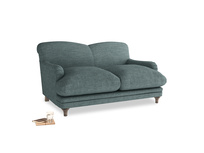 Small Pudding Sofa in Anchor Grey Clever Laundered Linen