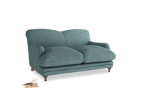 Small Pudding Sofa in Blue Turtle Clever Laundered Linen