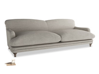 Extra large Pudding Sofa in Grey Daybreak Clever Laundered Linen
