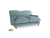 Small Pudding Sofa in Soft Blue Clever Laundered Linen