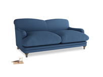 Medium Pudding Sofa in True blue Clever Linen