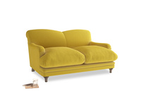 Small Pudding Sofa in Bumblebee clever velvet
