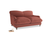 Small Pudding Sofa in Dusty Cinnamon Clever Velvet