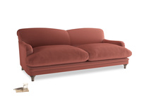 Large Pudding Sofa in Dusty Cinnamon Clever Velvet