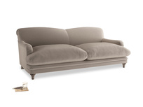 Large Pudding Sofa in Fawn clever velvet