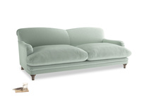 Large Pudding Sofa in Mint clever velvet
