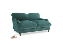 Small Pudding Sofa in Real Teal clever velvet