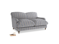 Small Pudding Sofa in Brittany Blue french stripe