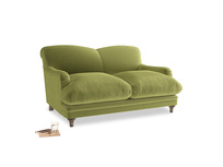 Small Pudding Sofa in Olive plush velvet
