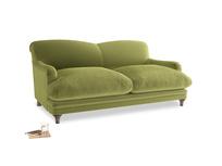 Medium Pudding Sofa in Olive plush velvet