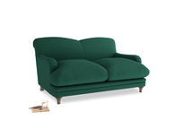 Small Pudding Sofa in Cypress Green Vintage Linen