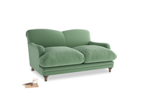 Small Pudding Sofa in Thyme Green Vintage Linen