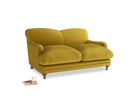 Small Pudding Sofa in Burnt yellow vintage velvet