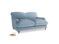 Small Pudding Sofa in Chalky blue vintage velvet
