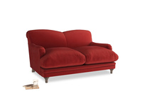 Small Pudding Sofa in Rusted Ruby Vintage Velvet