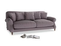 Large Crumpet Sofa in Lavender brushed cotton