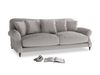 Large Crumpet Sofa in Mouse grey Clever Deep Velvet