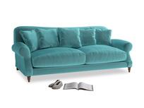 Large Crumpet Sofa in Belize clever velvet