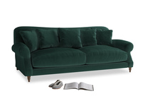 Large Crumpet Sofa in Dark green Clever Velvet