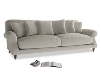 Extra large Crumpet Sofa in Smoky Grey clever velvet