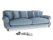 Extra large Crumpet Sofa in Chalky blue vintage velvet