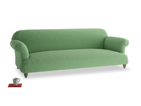 Extra large Soufflé Sofa in Clean green Brushed Cotton