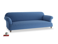 Extra large Soufflé Sofa in English blue Brushed Cotton