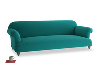 Extra large Soufflé Sofa in Indian green Brushed Cotton