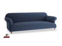 Extra large Soufflé Sofa in Navy blue brushed cotton