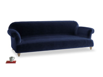 Extra large Soufflé Sofa in Goodnight blue Clever Deep Velvet