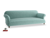 Extra large Soufflé Sofa in Greeny Blue Clever Deep Velvet