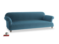 Extra large Soufflé Sofa in Old blue Clever Deep Velvet
