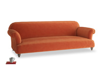 Extra large Soufflé Sofa in Old Orange Clever Deep Velvet