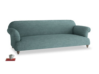 Extra large Soufflé Sofa in Blue Turtle Clever Laundered Linen