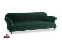 Extra large Soufflé Sofa in Dark green Clever Velvet