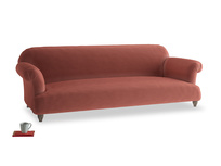 Extra large Soufflé Sofa in Dusty Cinnamon Clever Velvet
