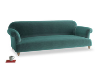 Extra large Soufflé Sofa in Real Teal clever velvet