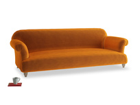 Extra large Soufflé Sofa in Spiced Orange clever velvet