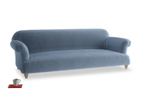 Extra large Soufflé Sofa in Winter Sky clever velvet