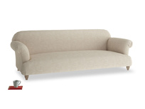 Extra large Soufflé Sofa in Flagstone clever woolly fabric