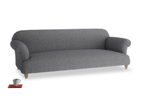 Extra large Soufflé Sofa in Strong grey clever woolly fabric