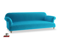 Extra large Soufflé Sofa in Azure plush velvet