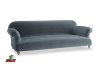 Extra large Soufflé Sofa in Mermaid plush velvet