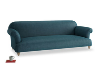 Extra large Soufflé Sofa in Harbour Blue Vintage Linen
