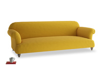 Extra large Soufflé Sofa in Yellow Ochre Vintage Linen
