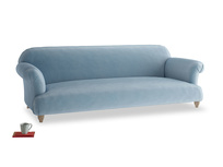 Extra large Soufflé Sofa in Chalky blue vintage velvet