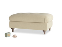Rectangle Jammy Dodger Footstool in Hopsack Bamboo Softie