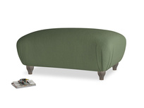 Rectangle Homebody Footstool in Forest Green Clever Linen