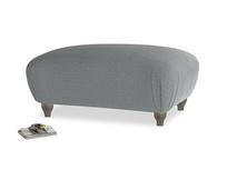 Rectangle Homebody Footstool in Cornish Grey Bamboo Softie